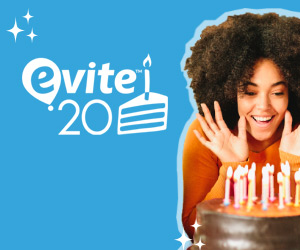 Evite Celebrates its 20th Birthday in 2018!