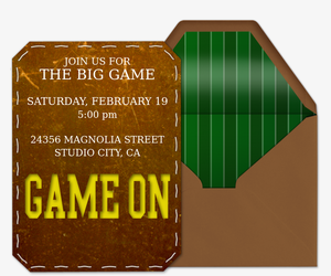 Game On Invitation