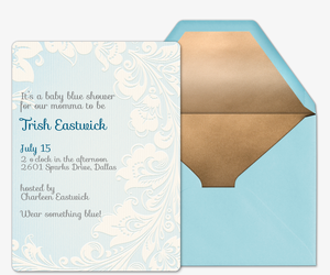 Damask Invitation