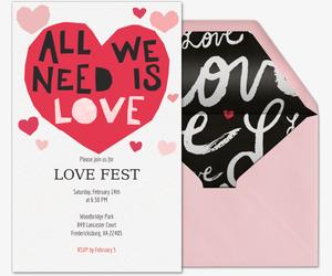 Valentine\'s Day Online Invitations