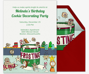 Frosting Cookies Invitation