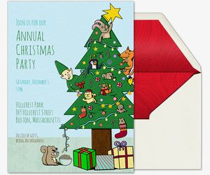 Playful Christmas Tree Invitation