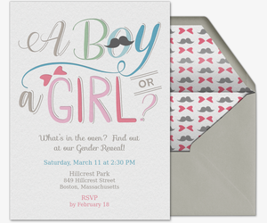 Free Gender Reveal Party Online Invitations Evitecom
