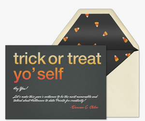 Trick Or Treat Yoself Invitation