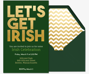 Let's Get Irish Invitation