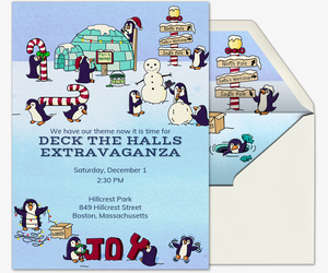 Penguin Lawn Invitation