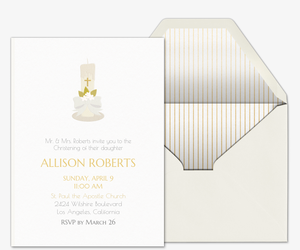 Christening Candle Invitation