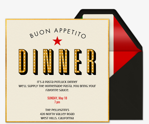 Buon Appetito Invitation