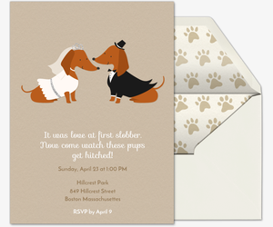 Doggie Wedding Invitation