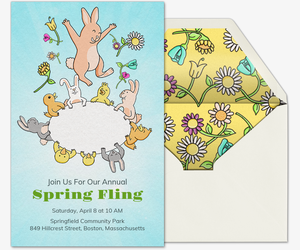 Spring Fling Invitation
