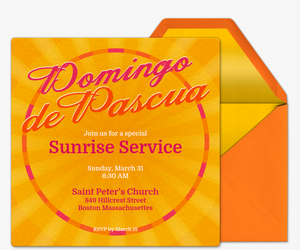 Easter Sunshine Invitation