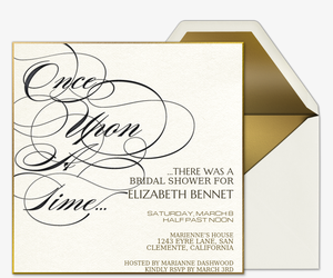 Once Upon A Time Invitation