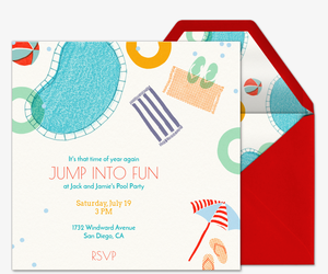 Design A Pool Online For Free bungalow interior design blogs best construction let the sunshine on building plan bungalow Jump Into Fun Invitation