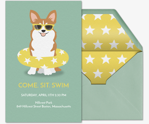 Pool party bbqs beach 4th of july invitations evite pet pool party invitation stopboris Images