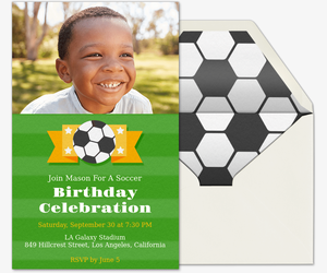 Soccer Emblem Invitation