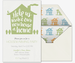 New Home Party Invitation  Housewarming Invitations Templates