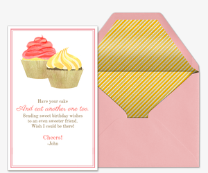 Bday Cupcakes Invitation