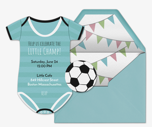 Soccer free online invitations soccer jersey onesie invitation filmwisefo Image collections