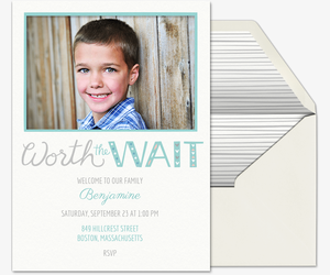 Worth the Wait Invitation