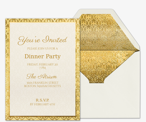 Dinner party invitations evite wined and dined invitation stopboris Images