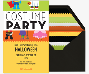 Invitations Free ECards And Party Planning Ideas From Evite - Party invitation template: halloween costume party flyer