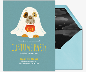 Pet Costume Howl - O - Ween Invitation