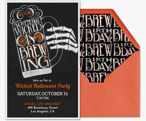 Wicked Brew Invitation