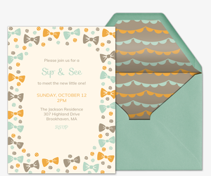 Buttons and Bowties Invitation