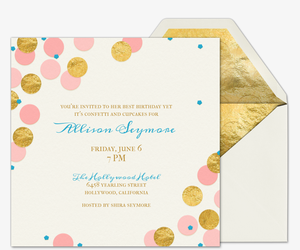 Confetti and Cupcakes Invitation