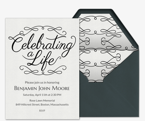 Invitations free ecards and party planning ideas from evite celebrating a life invitation stopboris Gallery