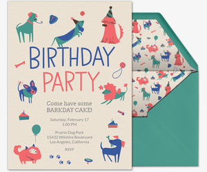 Invitations free ecards and party planning ideas from evite birthday for dogs invitation filmwisefo