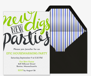Free Housewarming Party Invitations Evitecom