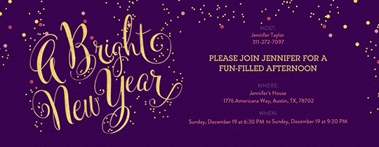 A Bright New Year Invitation