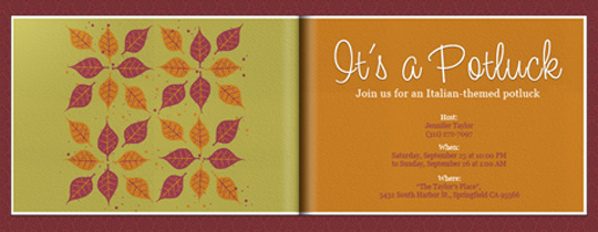 Autumn Potluck Invitation