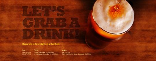 Bar Time Invitation