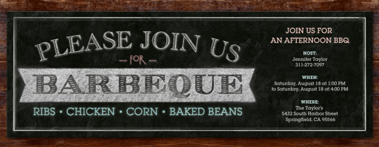 BBQ Board Invitation
