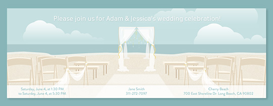 Beach Altar Invitation