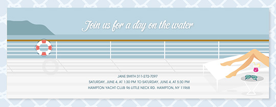 Beach Yacht Invitation