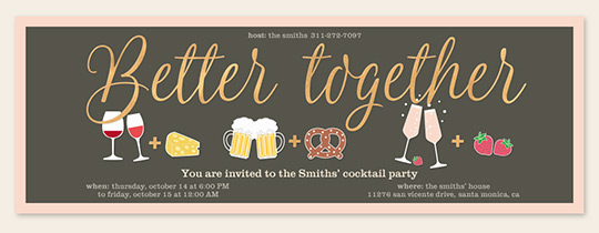 Cocktail Party Invitations – Cocktail Party Invitation Template