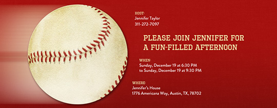 Big Baseball Invitation