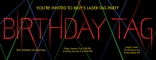picture relating to Laser Tag Birthday Invitations Free Printable identify Cost-free Birthday Invites - Send out On the net or by way of Words and phrases - Evite