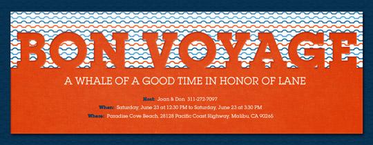 Bon Voyage Waves Invitation