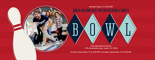 Bowl Diamonds Invitation