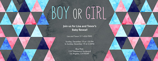 Boy or Girl Invitation