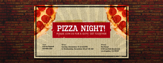 Brick Oven Invitation