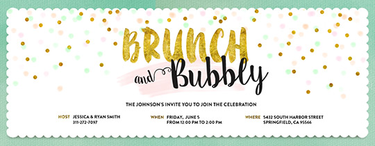 Free brunch lunch get together invitations evite brunch and bubbly invitation stopboris Choice Image