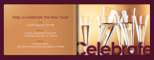 Celebrate Champagne Invitation