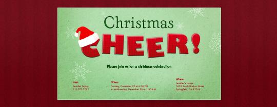 Cheery Christmas Invitation