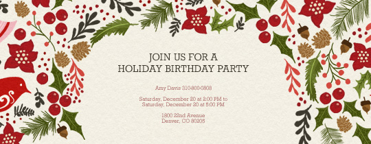 A Touch of Holiday Invitation