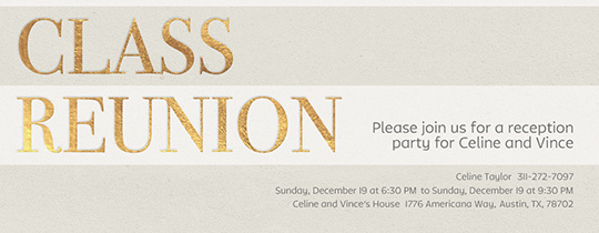 Class Reunion Invitation  Family Reunion Invitation Cards